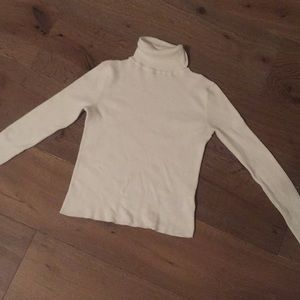 Pure white Long sleeve Turtle Neck